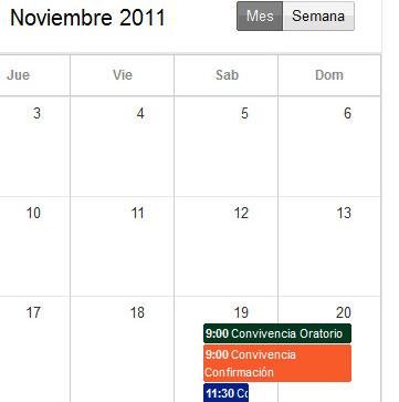 Convivencias y Excursiones curso 2011-2012