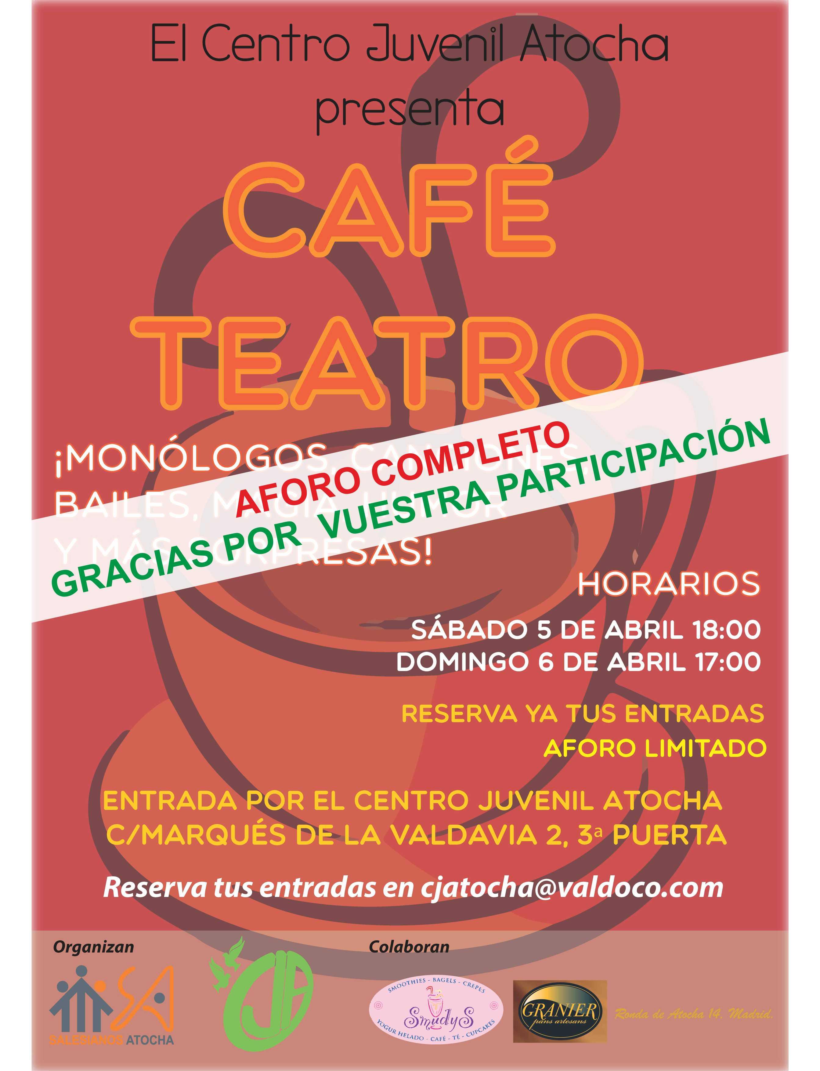 Café-Teatro- AFORO COMPLETO